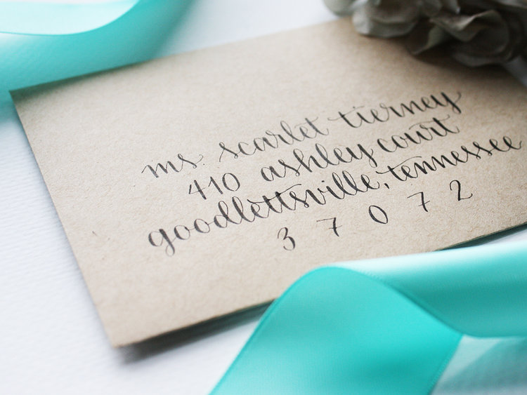 Calligraphy Envelope Addressing For Wedding Invitation Suites Ink