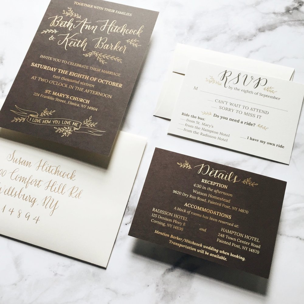 Custom Wedding Stationery | Wedding Invitation Suites with ...