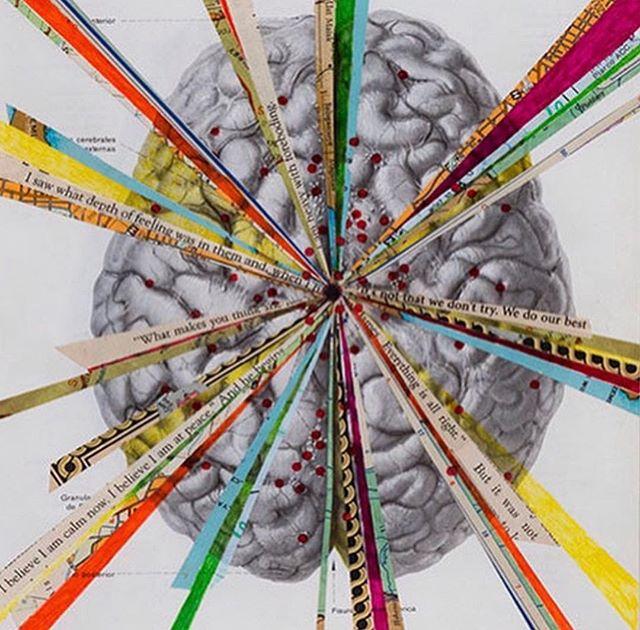 Art by Mary Larsen (@mplarsen) #neuromission . . . #art #marylarsen #brain #brains #brainart #collage #artscience #scienceart #neuron #neurology #neuroscience #neurons #neurobiology #neuropsychology #illustration #medicalillustration #synapse #drawing #neurological #anatomy #neuroanatomy #nonprofit #miami