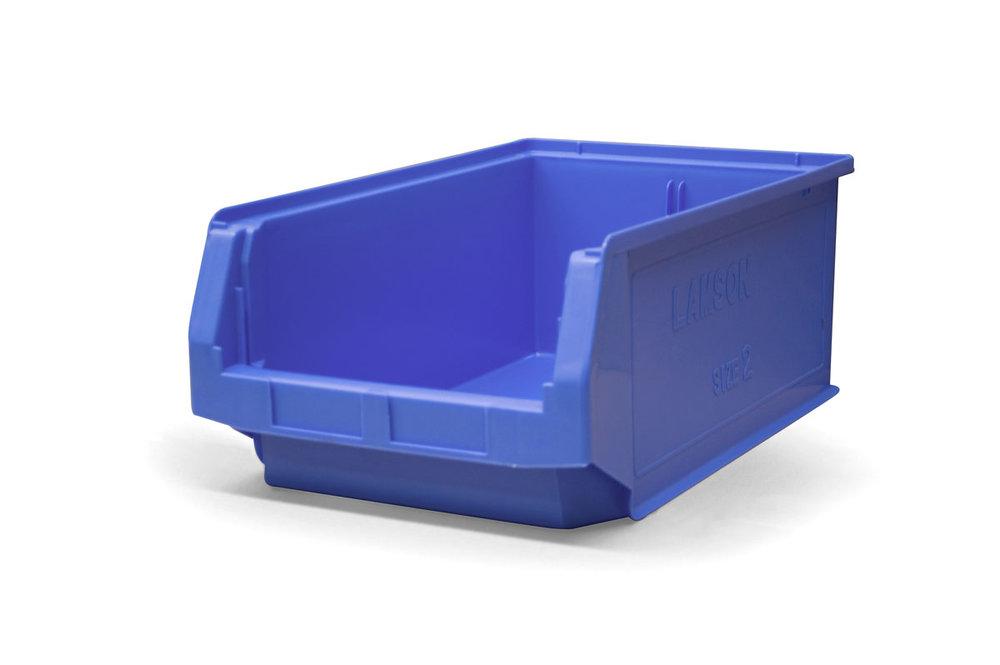 Size 2 Blue Plastic Bin