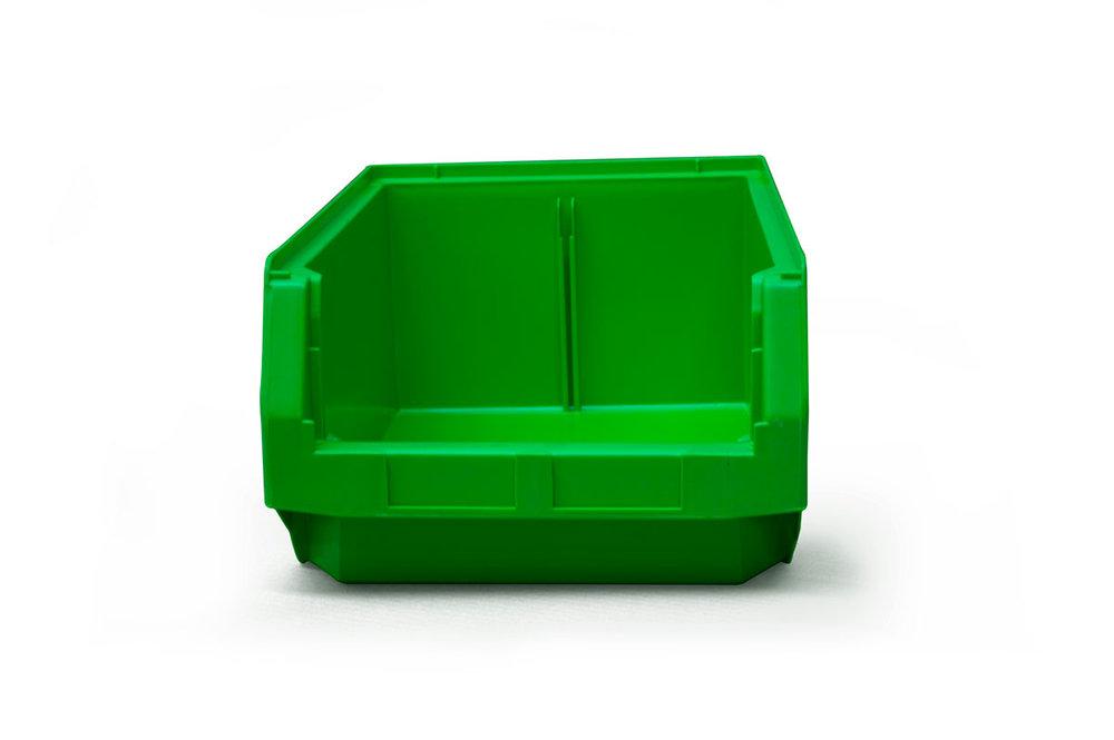 Size 2 Green Plastic Bins