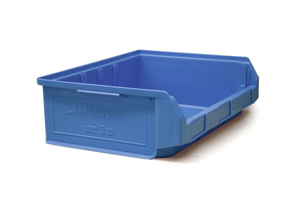 Size 3Z Blue Plastic Bin