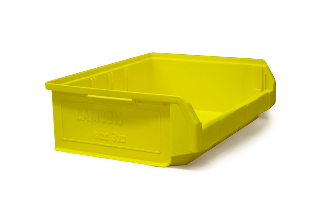 Size 3Z Yellow Plastic Bin