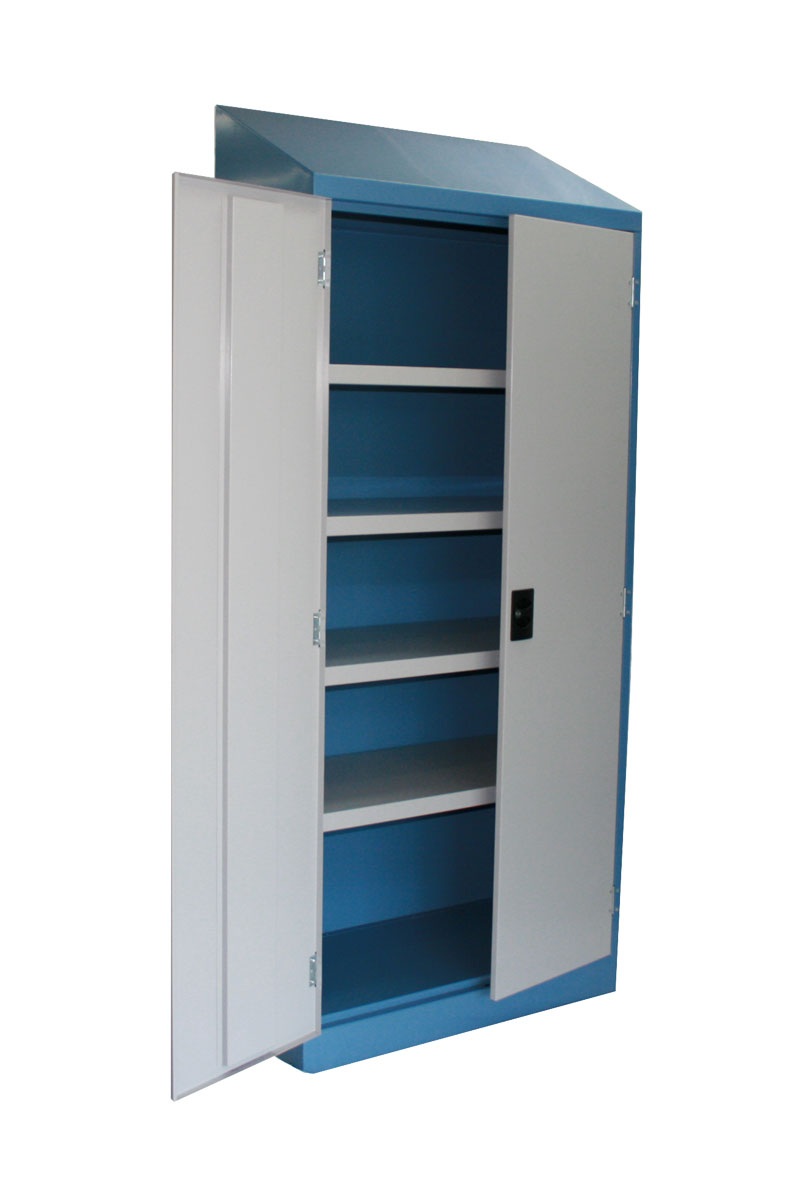 Slope Top Cupboards -