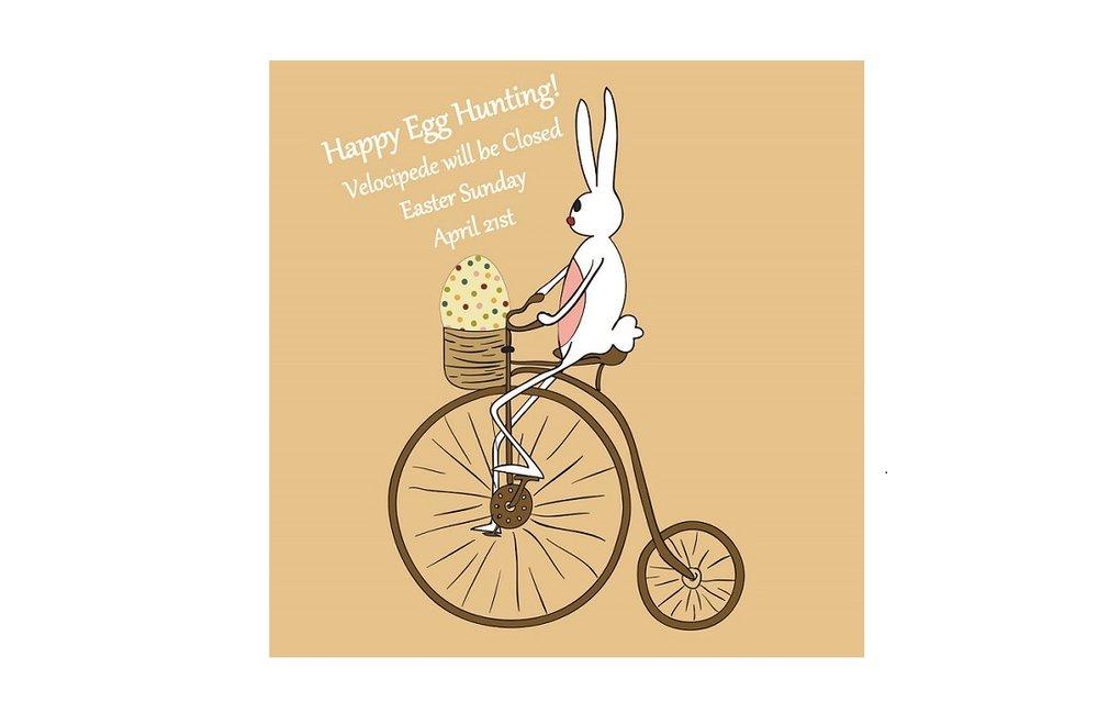 Vintage Easter bunny biking card Velocipede.jpg