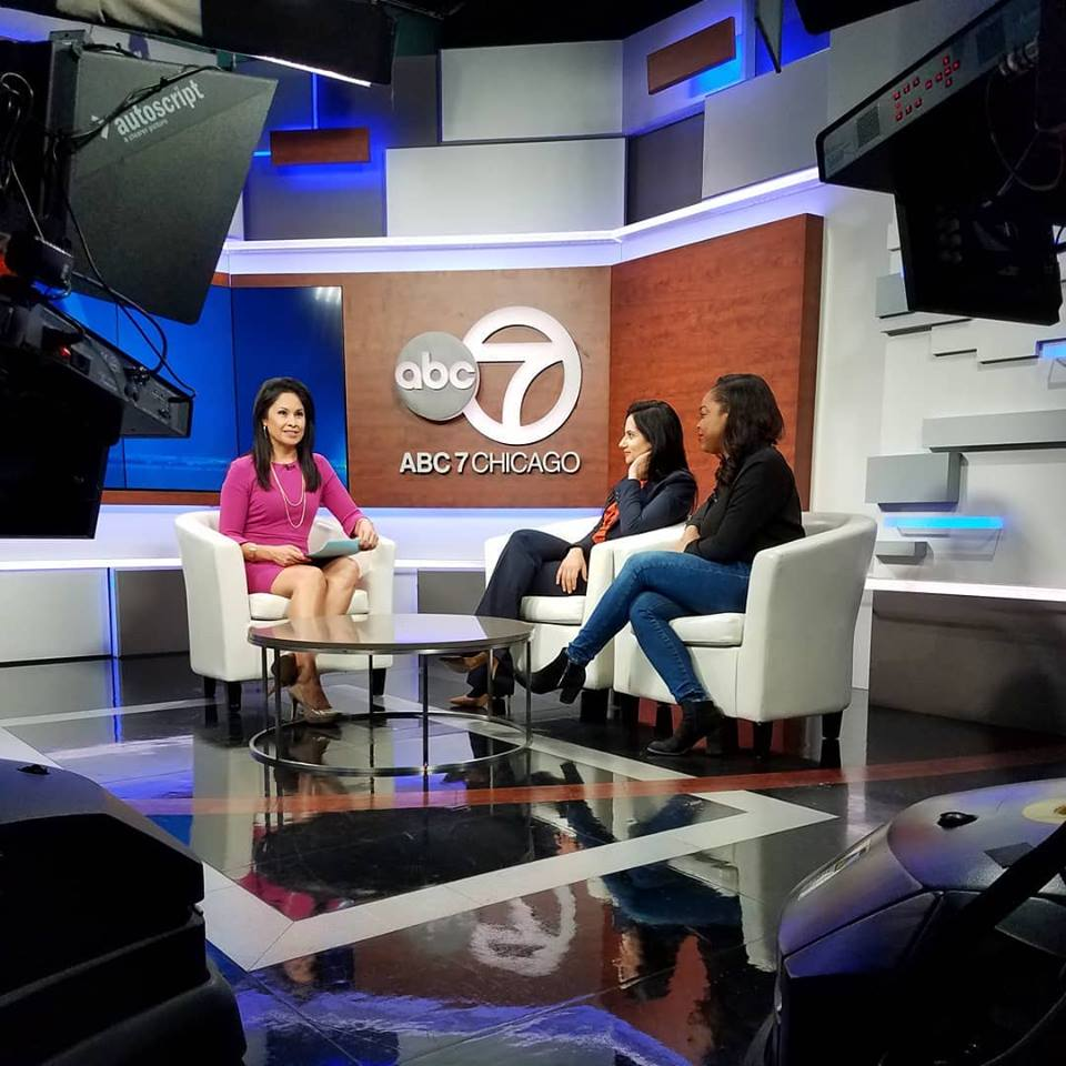 Client Maaria Mozaffar on ABC7Chicago discussing her civil rights work.