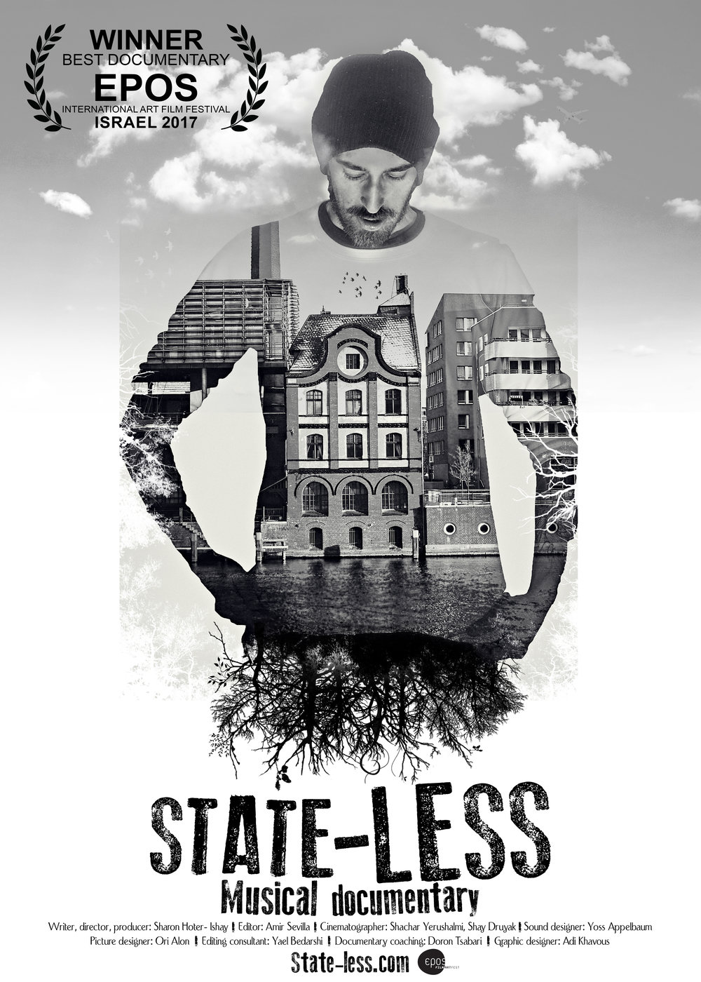 State-Less - Music Documentary.  The Story of Adi Khavous, a musician and extraordinary artist who chose a vagabond lifestyle. Adi left home in Israel and now lives in Canada as a solitary immigrant and rock 'n' roll singer. The film depicts five years of Adi's journey and presents an alternative, off-beat way of life. In his lonesome life, Adi holds on to one dream: to break through as a musician.