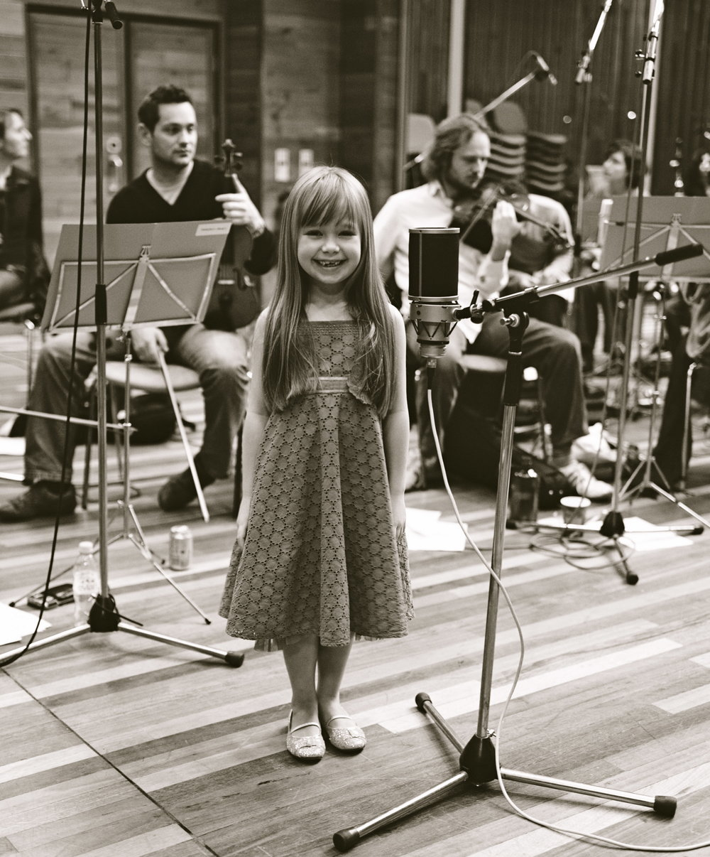 Connie Talbot at the Olympic Studios during the recording of  Somewhere Over The Rainbow -