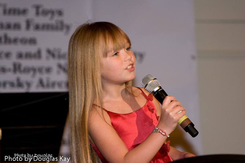 Toys For Tots Kickoff Luncheon / Littlest Ambassador/ North America  - As ambassador for the Toys for Tots program, Connie performed at the National Toys for Tots Campaign 2009 Kick-Off Luncheon at the Hilton Alexandria (Va.) Mark Center on her ninth birthday, Nov 20, 2009.Photo by Douglas