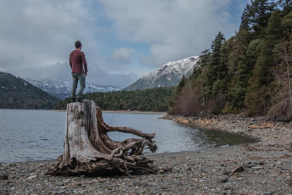 Standing On Log by lake (1 of 1).jpg