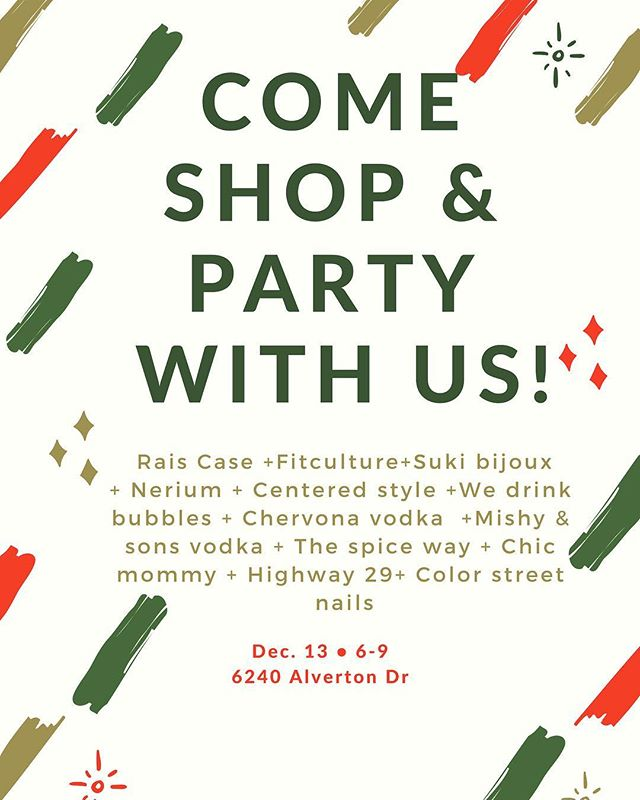 Come shop & party with us TOMORROW! • Hope to see you all there ❤️