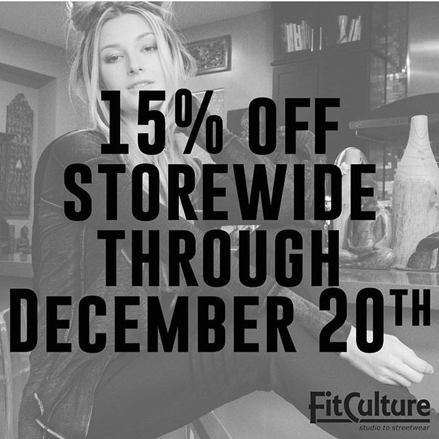 It pays to procrastinate! Come in and get your last minute shopping done and get 15 percent off all new merchandise & up to 40 percent off all other merchandise!