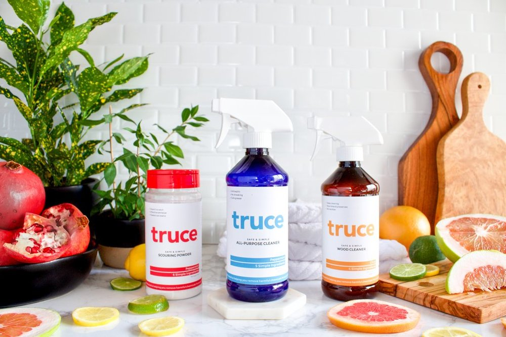 We clean responsibly. - We proudly use Truce Green Cleaning Products. Available upon request.