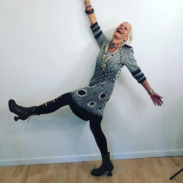 Nancy dances when she is happy.... wearing Giselle Shepatin.... enjoying herself.... Available Now at:  www.giselleshepatin.com  #womensclothing #handmadeclothing #localdesigners #style #fashion #ootd #potd #madeintheusa #arttowear #wearableart #madeinamerica #fashionista #womenover40 #womenover50 #springfashion #customdesign #couture #custom-clothing #handcrafted #californiafashion #style #luxury #craftshow #artisinal #makers #sffashion #nyfashion