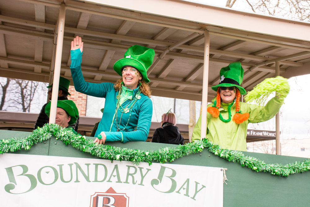 Join Boundary Bay in the St. Patrick's Day Parade, Saturday, March 17, 2018. Just wear green!!!