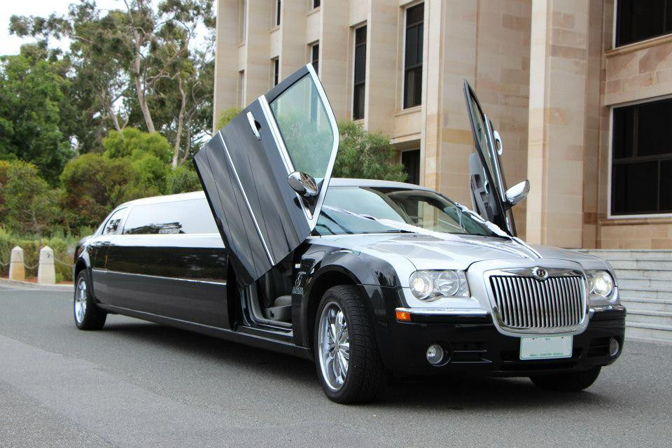 black and white limo