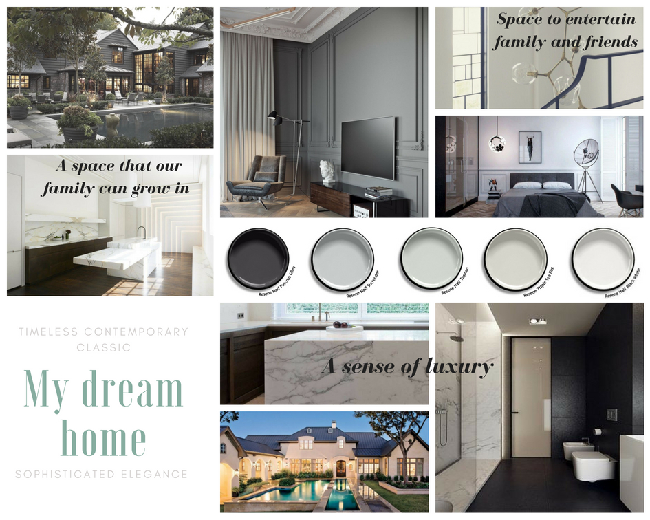 A vision board helps to achieve a cohesive style and to turn your dream home into reality.