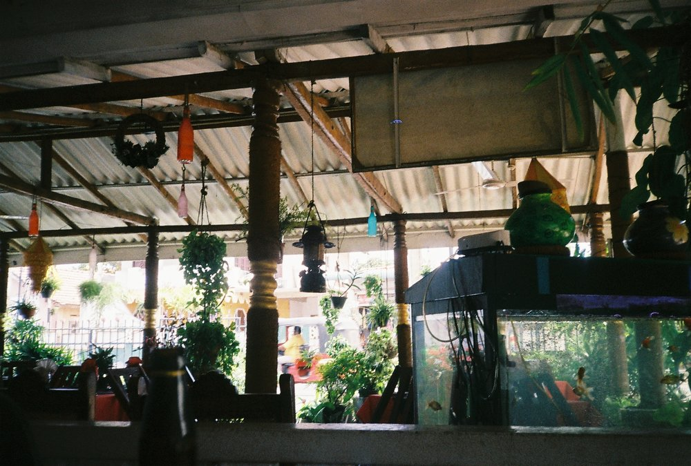 Cafe in Negombo, 35mm film