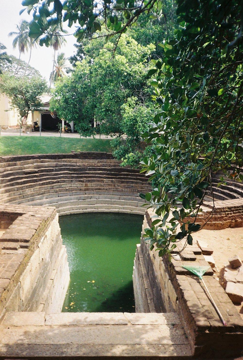 Sacred well at Anuradhapura, 35mm film