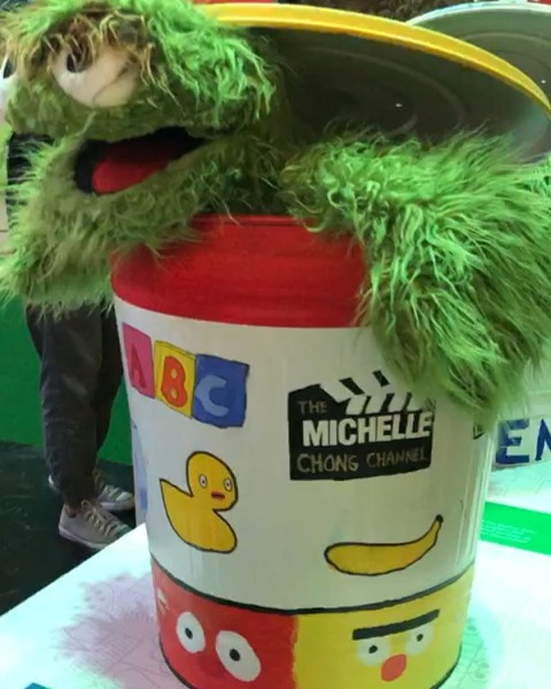 On display in Universal Studios Singapore –  the one and only Oscar The Grouch Trash Can creatively designed by @immichellechong and the team at @leftprofile! To commemorate Sesame Street's 50th anniversary, we've joined in this meaningful initiative to support the Autism community where with every photo post of the trash can, RWS will donate $5 to the Autism Resource Centre (Singapore). We're honoured to have our exclusive trash can design officially launched alongside others from local and regional celebrities as well as artistic talents from Pathlight School. Just like growing up with the Sesame Street show, we hope that The Michelle Chong Channel will also bring warmth and laughter to your life! 🌈🥰⁣⁣⁣ ⁣⁣⁣ #SS50xUSS #SesameStreet #RWSentosa #UniversalStudiosSingapore #USS #RWS #OscarTheGrouch #LeftProfile #LeftProfileArtiste #LeftProfileDesigns