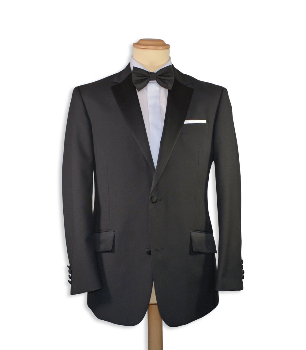 Classic Fit Black Formal Suit (To Hire or Buy)