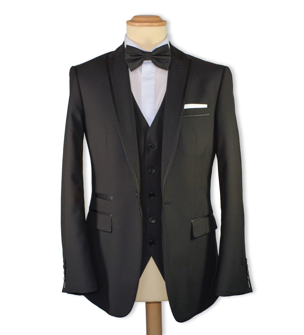 Slim Fit Black Formal Suit