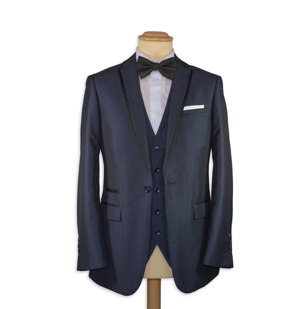 Slim Fit Navy Formal Suit (To Hire or Buy)