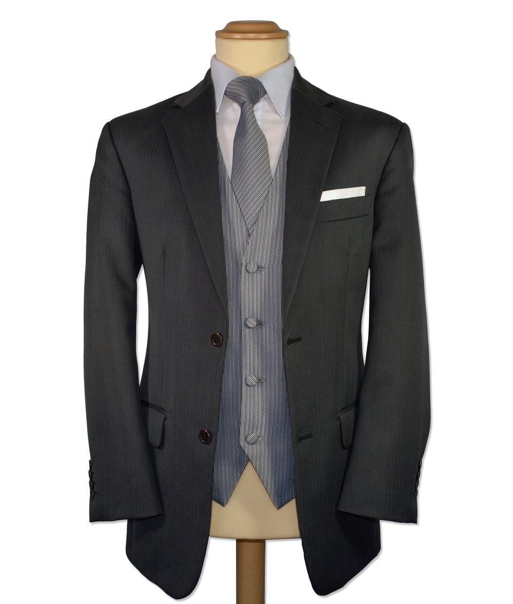 Grey Herringbone Suit