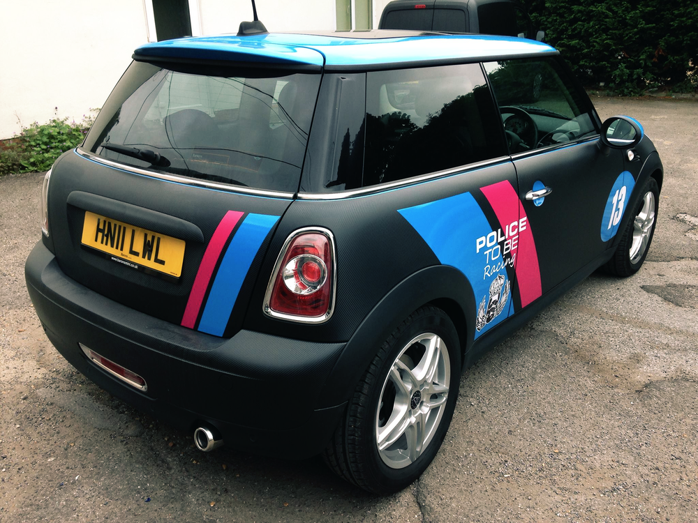 Mini Police Car Wrap