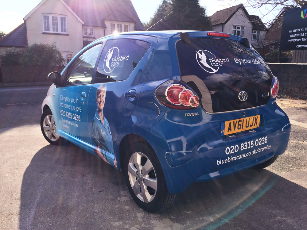 Bluebird Care Car Wrap