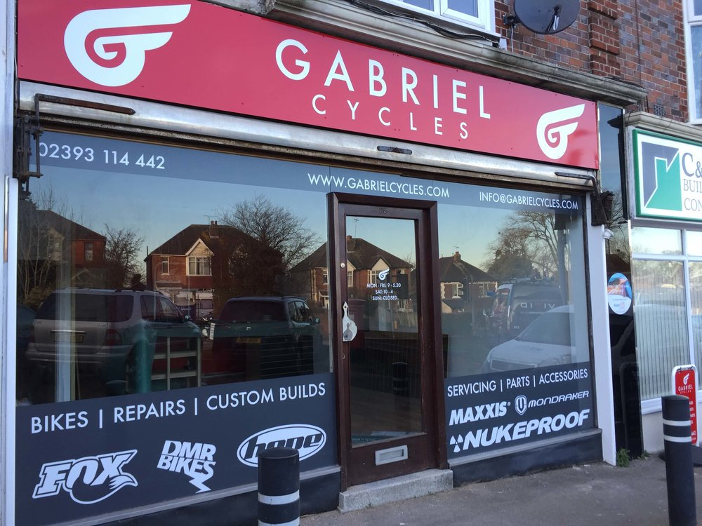 Gabriel Cycles Shop Front Signs