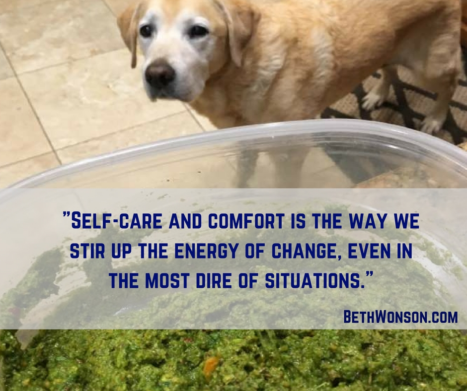Care and comfort is the way we stir up the energy of change, even in the most dire of situations.