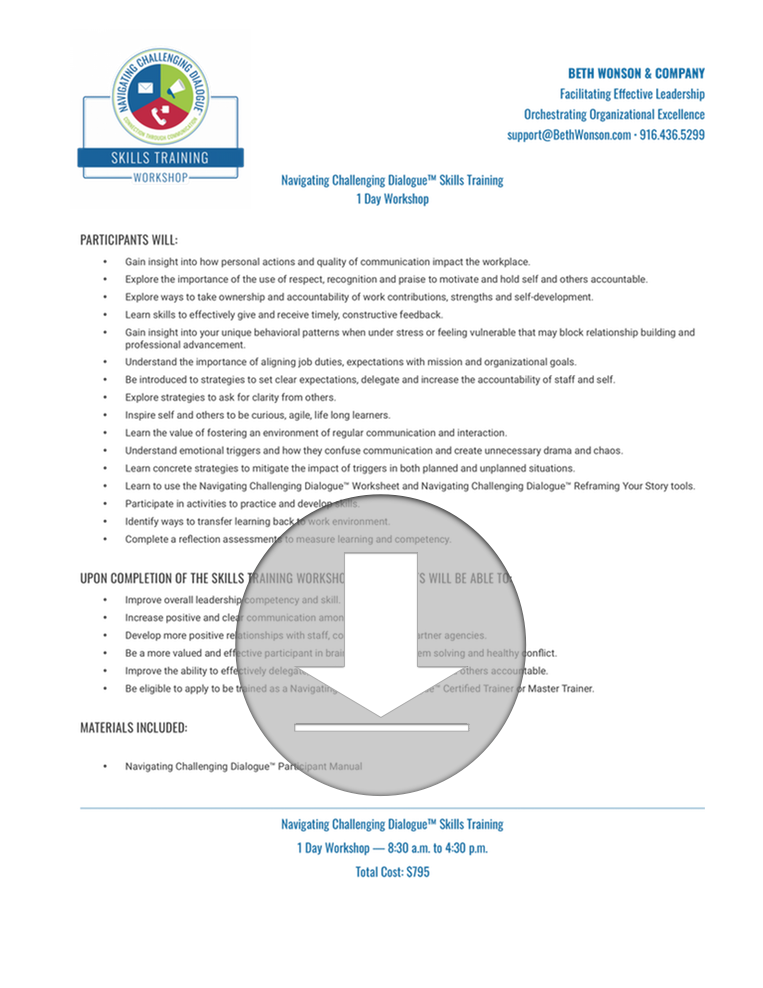 Click to Download Workshop Overview as PDF