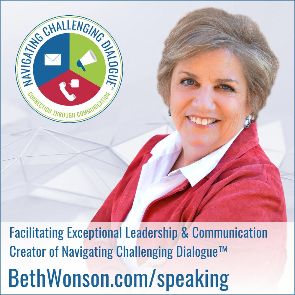 Beth Wonson, Speaker - Navigating Challenging Dialogue