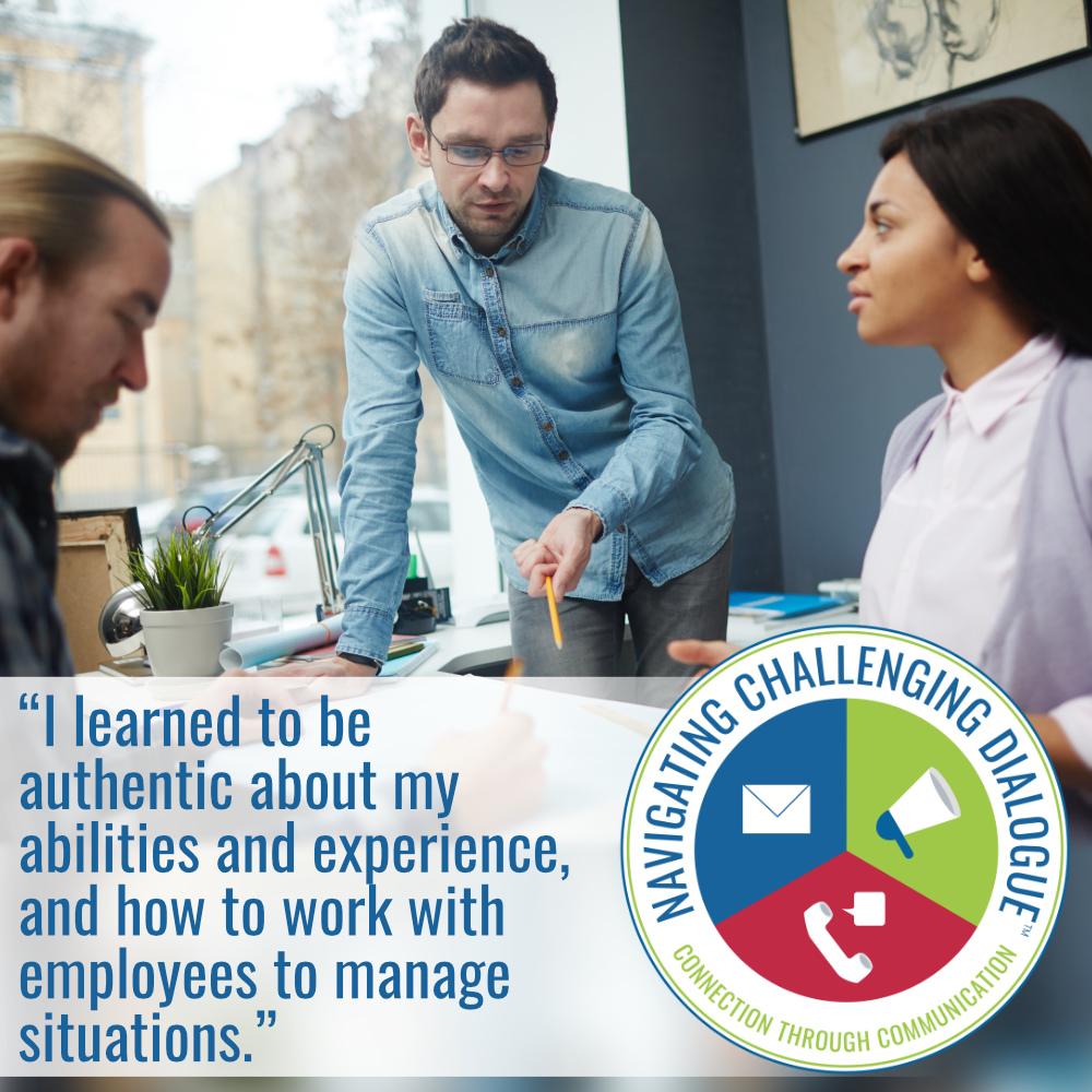 Sign up fNavigating Challenging DialogueNavigating Challenging Dialogue® Skills Training