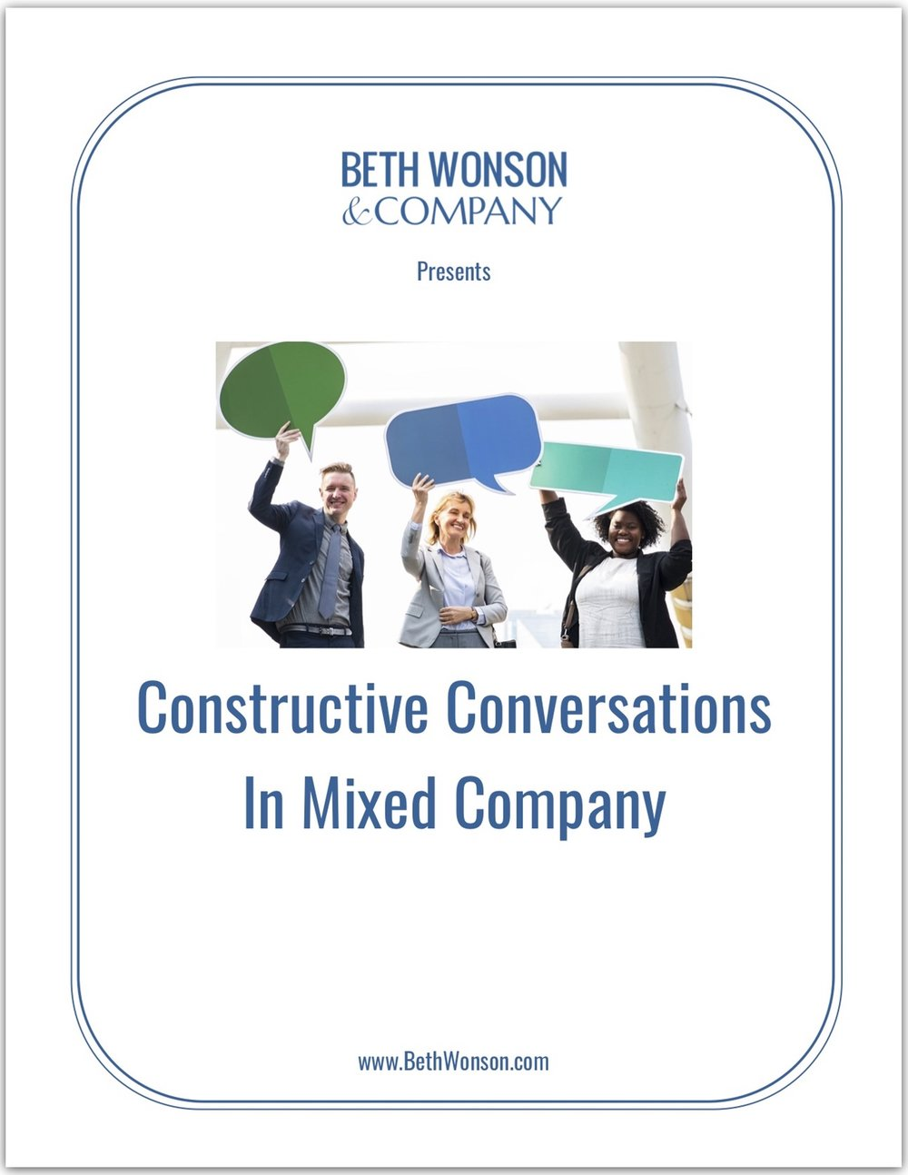 Constructive Conversations in Mixed Company - PDF Workbook