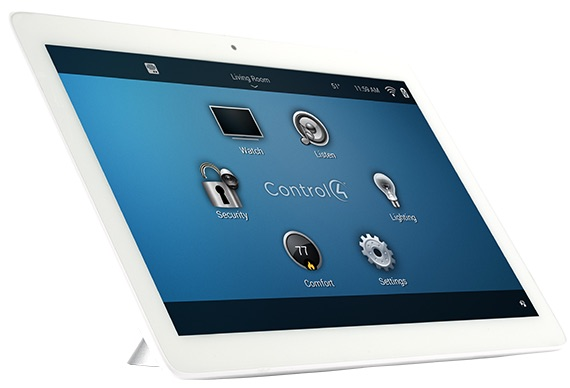 Control4 touchscreen panel for home automation