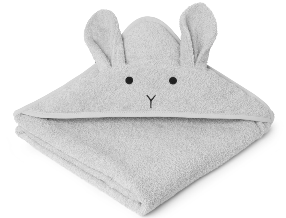 Bath Towel - A hooded towel makes bath time easier and this organic one also comes with rabbit ears. Because everyone wants to be a rabbit sometimes. Liewood hooded towel  £34  The Modern Nursery