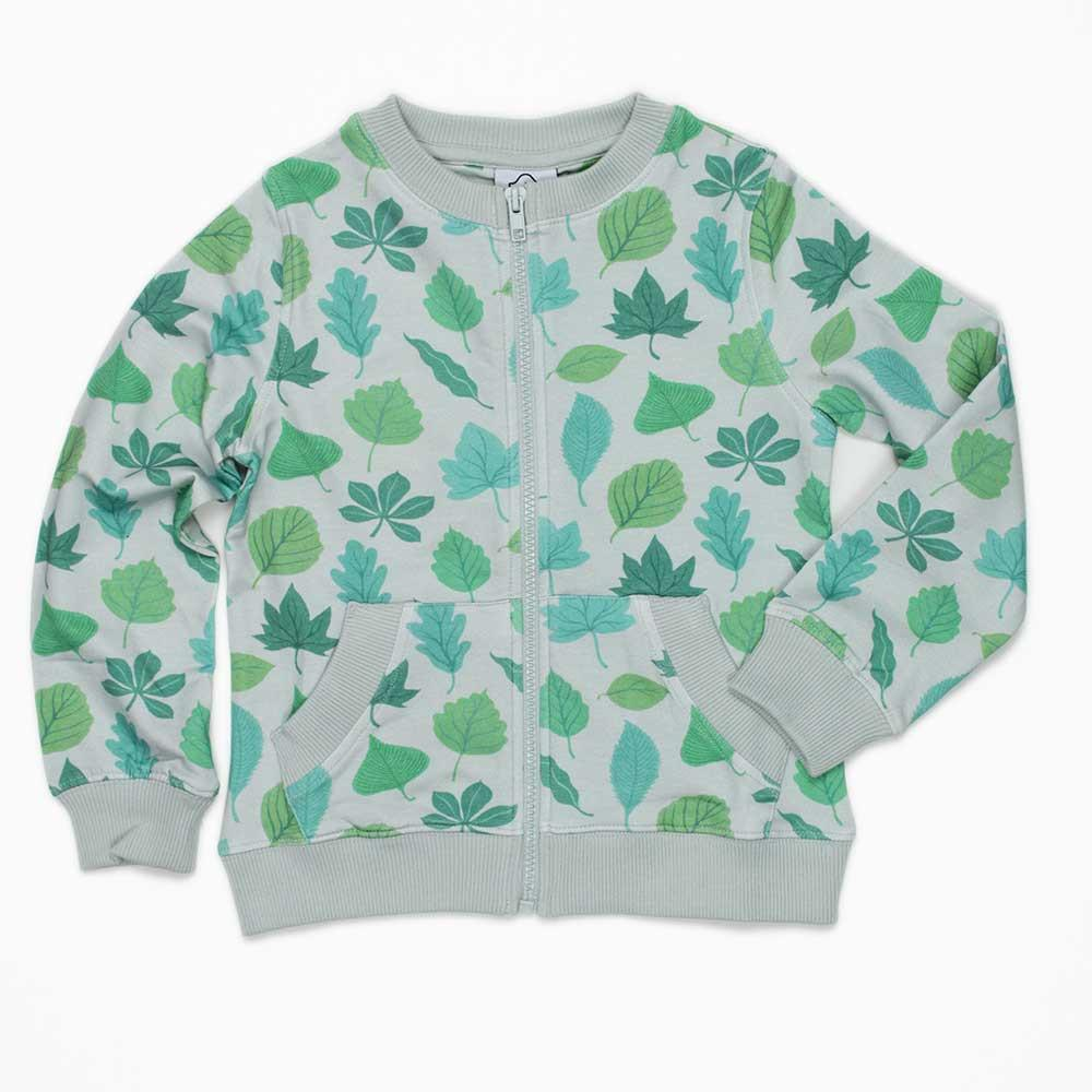 Leaf Jacket - Lovely little leafy jacket featuring common British woodland trees. Lovely print , plus added bonus, no need to take a book with you - you'll have a walking identification chart.Forest Leaf Jacket  £28  Well Grounded Co