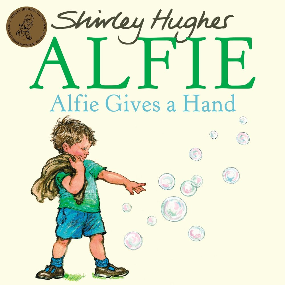 Alfie Gives a Hand - Alfie is nervous of going to a birthday party by himself. He's also kind and caring and looks after his friends. Shirley Hughes's illustrations are, as always, completely perfect.Alfie Gives a Hand paperback  £6.99  Amazon