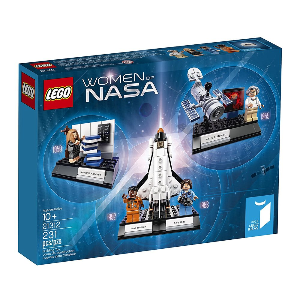 Lego Women of NASA - The title says it all. Based on real life pioneers of space exploration. They happen to be women.Women of NASA Lego set  £42.99  Amazon