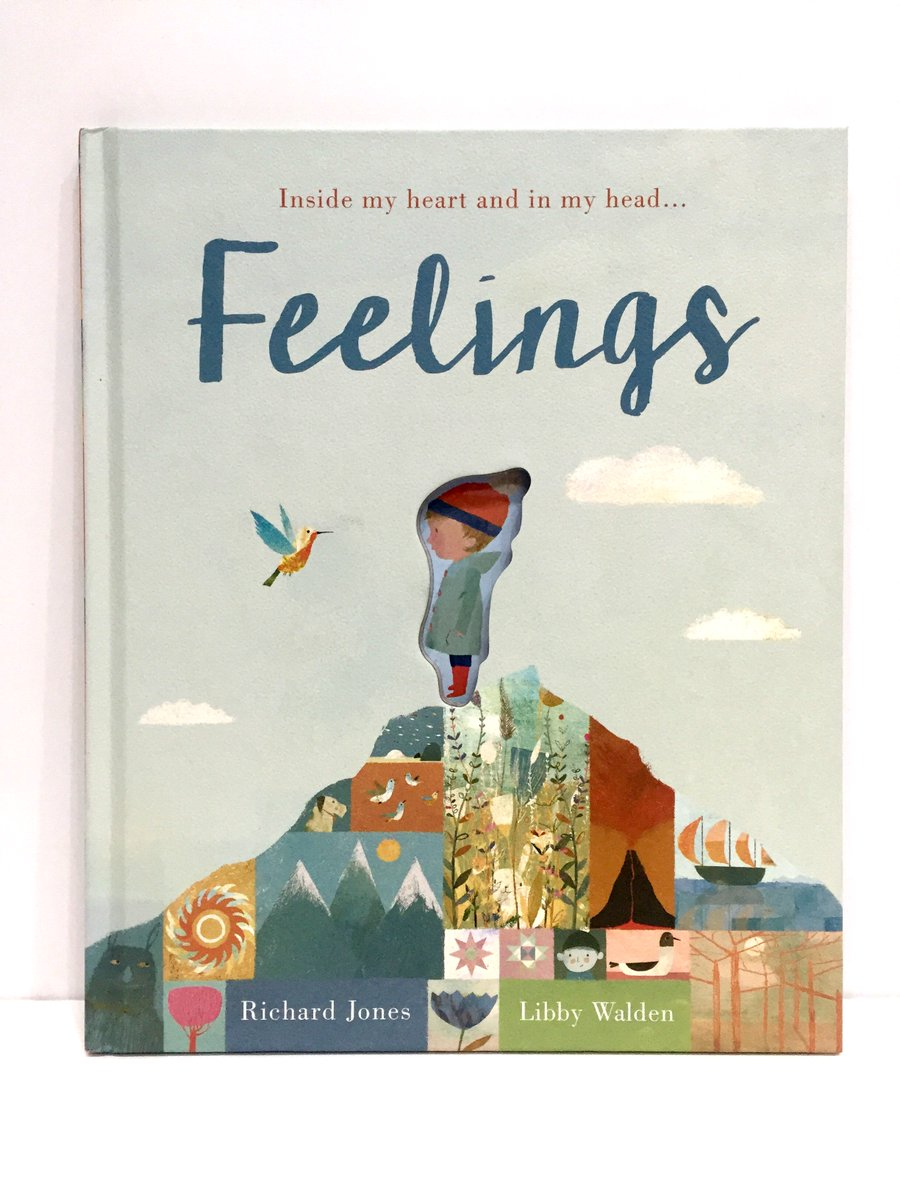 Feelings - Explore a range of feelings through these lovely illustrations and lyrical words. Especially important as studies have shown boys tend to have fewer words to express their feelings.Feelings hardback  £10.99  Telling Tales Bookshop