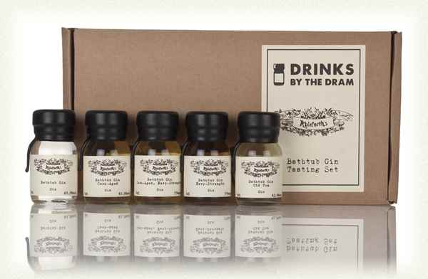 Gin Tasting Set - Still with us? Fair enough. Ah, gin. Of course, also known as Mothers' Ruin, it can do a pretty job on a father too. This is a smart gift set of single measures for fancy G&Ts in the comfort of your own home.Bathtub Gin Tasting Set  £19.95  Master of Malt