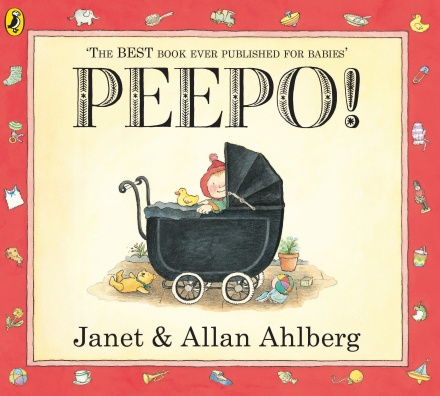 Peepo! - A classic favourite that's full of nostalgic drawings and a big hole so you can play every baby's favourite game, PEEPO.£6.65Penguin Books