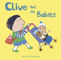 Clive and his babies - This little board book shows Clive feeding, playing with and tucking his babies in to bed. Letterbox Library have been championing inclusive books for more than 30 years, and they have the whole Clive series.£4.99Letterbox Library