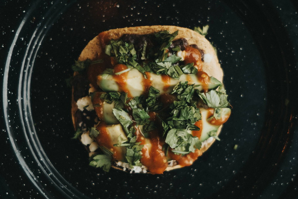 Avocado Tostada (vegetarian)