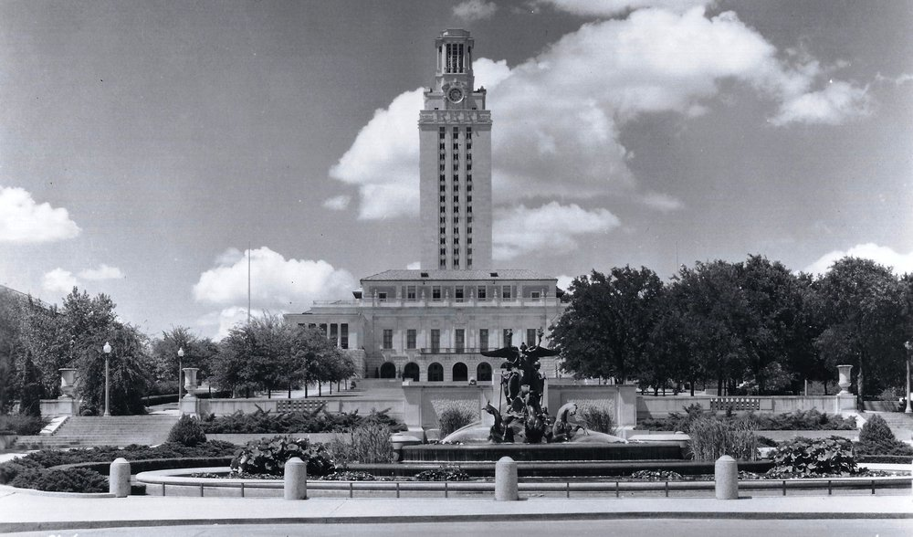 UT Tower shortly after its COMPLETION,Alexander Architectural Archives, 1937.
