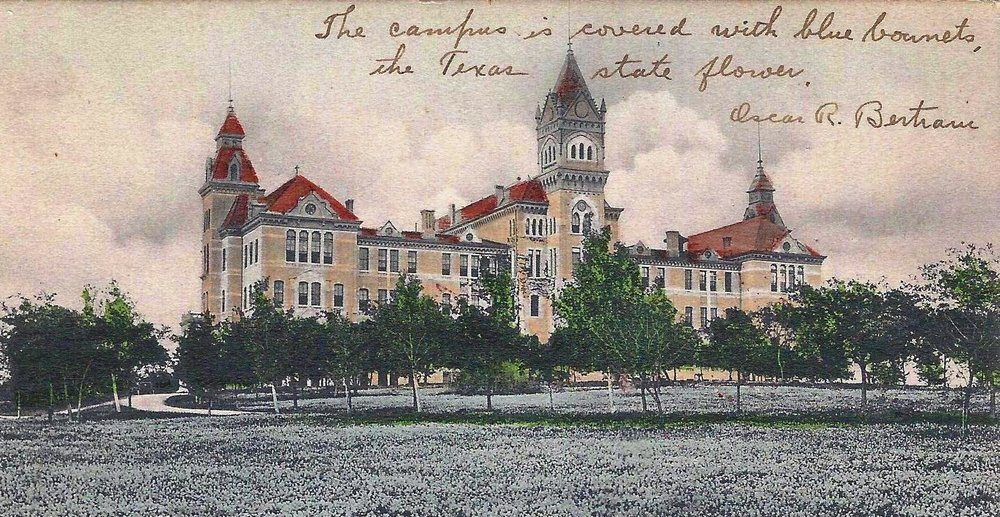 postcard with the picture of the old main BUILDING, 1908.