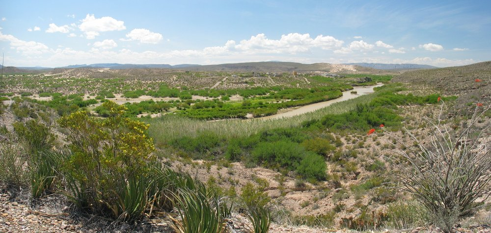 The rio grande as viewed from the big bend national park.