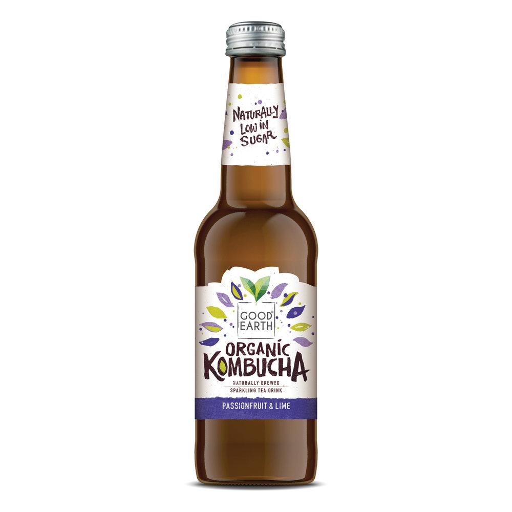 feel like a tropical break? - Take off with Good Earth Organic Kombucha Passionfruit & Lime.